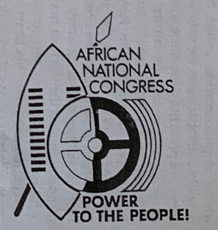 The logo that appeared on ANC pamphlets and literature at the time of the Kabwe Conference in 1985.