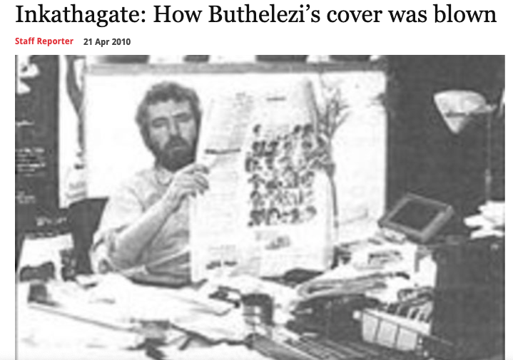 """Mail & Guardian article, 9 June 1995, """"How Buthelezi's cover was blown""""."""