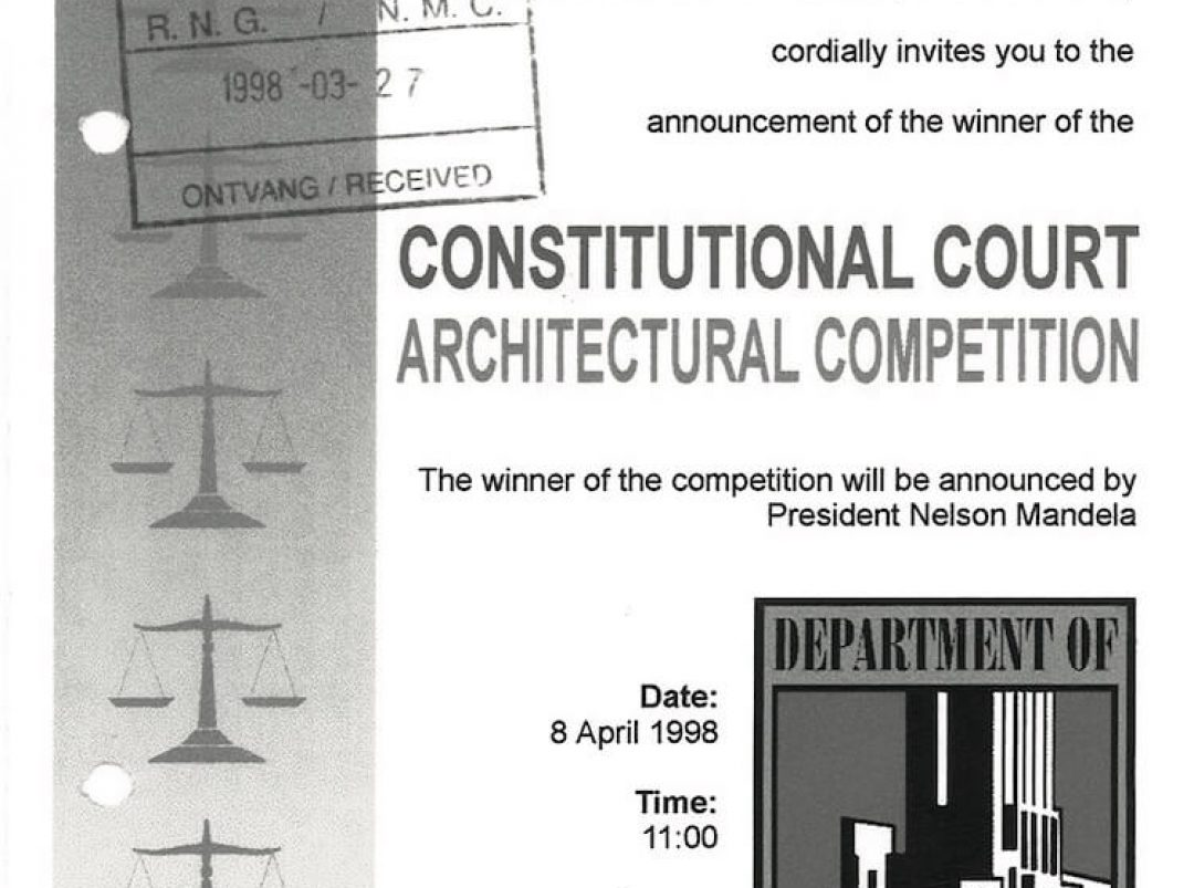 Invitation to the announcement of the winner of the Constitutional Court Architectural Competition.