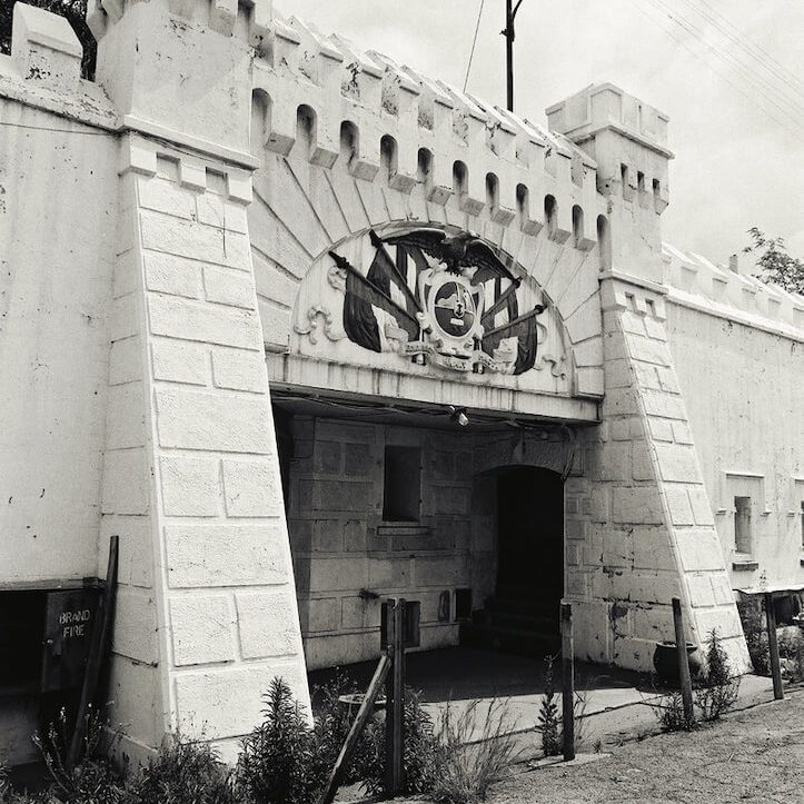 Images taken of the Old Fort in 1991 before the planned restoration project.