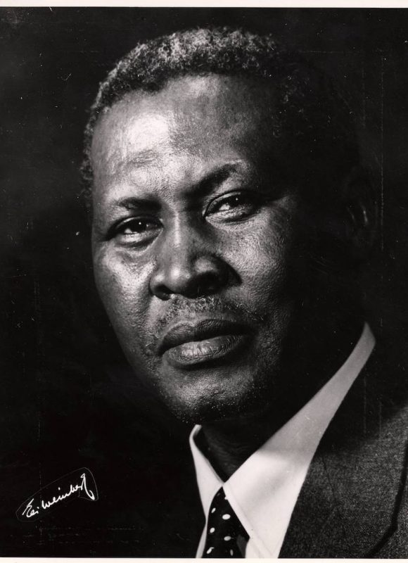 Albert Luthuli. Colin Purkey, Historical Papers Research Archives, University of the Witwatersrand