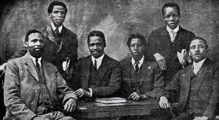The members of the SANNC deputation that left for Britain to plead for the recognition of rights for black people by the Union after the end of World War I, included Thomas Levi Mvabaza, Richard Victor Selope Thema, Rev. Henry Ngcayiya, Sol Plaatje and Josiah Tshangana Gumede - all founding members of the ANC.