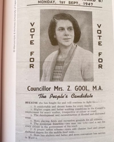 Gool's poster for election as ward council.