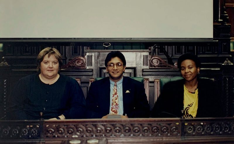 The troika that ran the process: Executive director Hassen Ebrahim and his deputies Marion Sparg and Louisa Zondo.